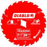 7-1/4 in x 24 Tooth Wormdrive Framing Saw Blade
