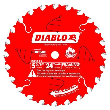 5-3/8 in x 24 Tooth Framing Trim Saw Blade
