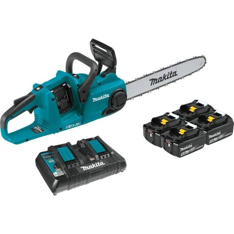 "18V X2 (36V) LXT® Lithium-Ion Brushless Cordless 16"" Chain Saw Kit with 4 Batteries (5.0Ah)"
