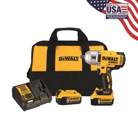 "DCF899P2-20V MAX* XR Brushless High Torque 1/2"" Impact Wrench Kit w/Detent Anvil Maximum initial battery voltage (measured without a workload) is 20 volts. Nominal voltage is 18."