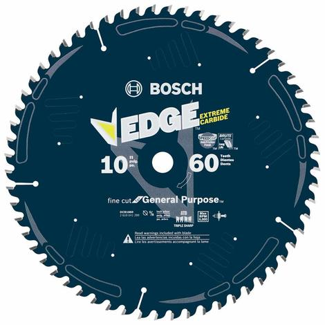 Bosch 10 In. 60 Tooth Edge Circular Saw Blade for Fine Finish