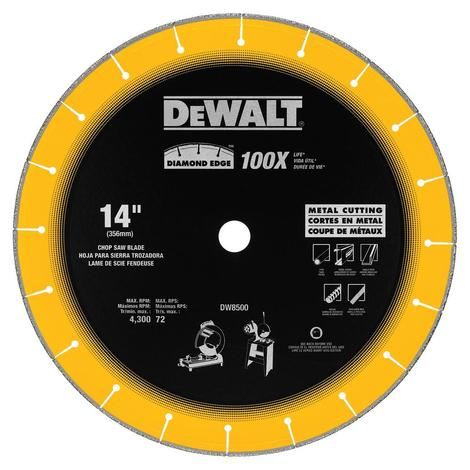 14 In. x 7/64 In. x 1 In. Diamond Edge Chop Saw Blade