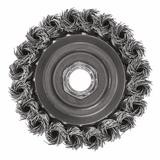 3 In. Wheel Dia. 5/8 In.-11 Arbor Carbon Steel Knotted Wire Single Row Cup Brush