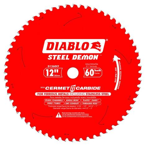 12 in x 60 Tooth Steel Demon Cermet Metal and Stainless Steel Cutting Saw Blade