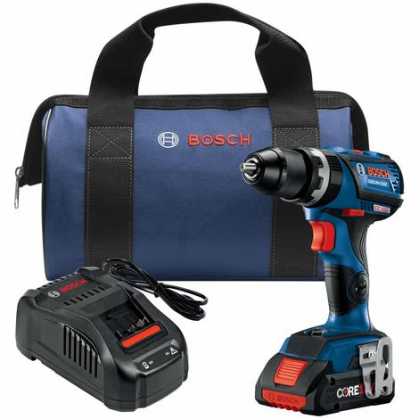 18 V EC Brushless Connected-Ready Compact Tough 1/2 In. Hammer Drill/Driver with (1) CORE18 V 4.0 Ah Compact Battery