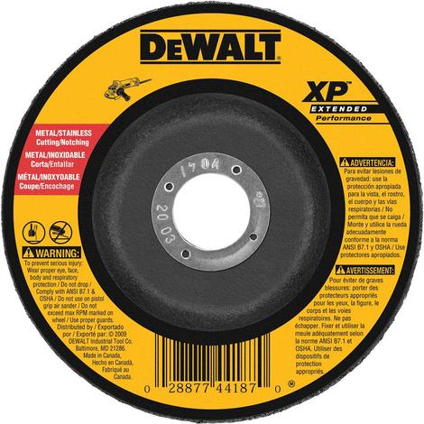 6 In. x 3/32 In. x 5/8 In. to 11 XP Cutting and Notching Wheel