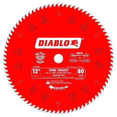 12 in x 80 Tooth Fine Finish Saw Blade