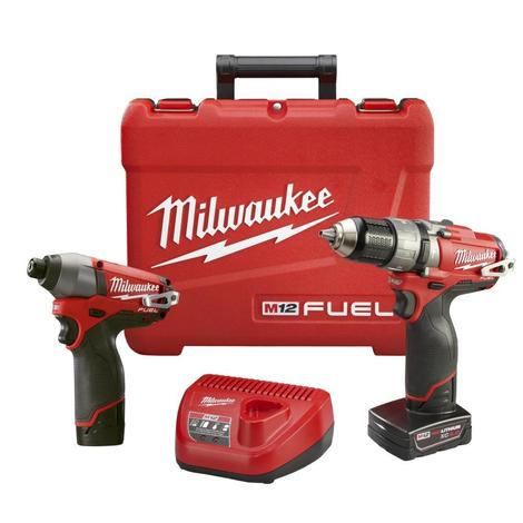 M12 12V FUEL Hammer Drill / Impact Driver Combo Kit (Reconditioned)