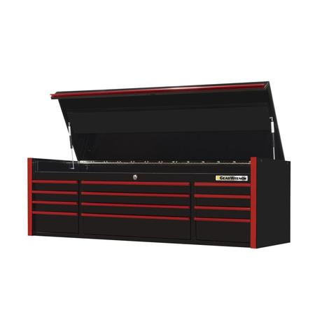 Top Chest, 72 In. 12-Drawer Extreme Tools® Series, Black & Red