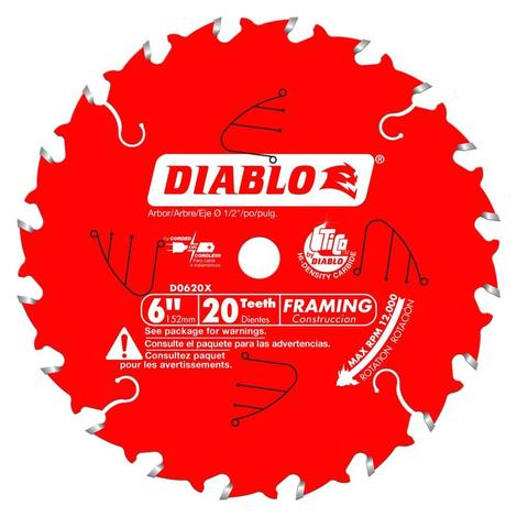 6 in x 20 Tooth Framing Saw Blade for Port-Cable Saw Boss®
