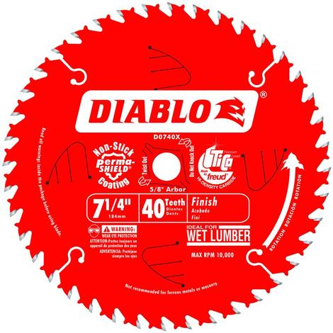 7-1/4 in x 40 Tooth Finish Saw Blade