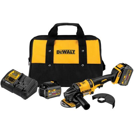 "DCG414T2 - 4.5-6"" 60V 9000RPM FLEXVOLT CORDLESS ANGLE GRINDER with 2 Batteries"
