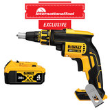 *International Tool Exclusive* 20V MAX XR Li-Ion Brushless Drywall Screwgun with DCB204 Premium XR Lith-Ion Battery Pack