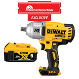 *International Tool Exclusive* 20V MAX XR Brushless High Torque 1/2IN Impact Wrench with DCB205 XR Premium Lith-Ion Pack 5.0 A/H