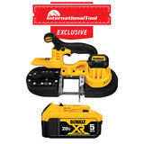 *International Tool Exclusive* 20V MAX Lith-Ion Band Saw Tool Only with DCB205 XR Premium Lith-Ion Pack 5.0 A/H