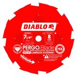 7-1/4 in x 8 Tooth (PCD) Laminate Flooring Saw Blade