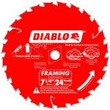 7-1/4 in x 24 Tooth Framing Saw Blade