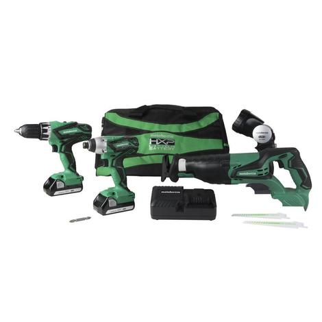 Metabo HPT 18V Lithium Ion 4-Piece Combo Kit