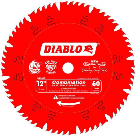 12 in x 60 Tooth Combination Saw Blade