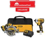 *International Tool Exclusive* 20V MAX 7-1/4IN Cordless Circular Saw Kit with DCF887B Impact Driver (Bare)