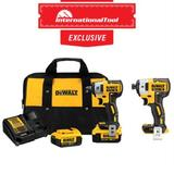 *International Tool Exclusive* 20V MAX XR 3/8IN Compact Impact Wrench Kit with DCF887B Impact Driver (Bare)